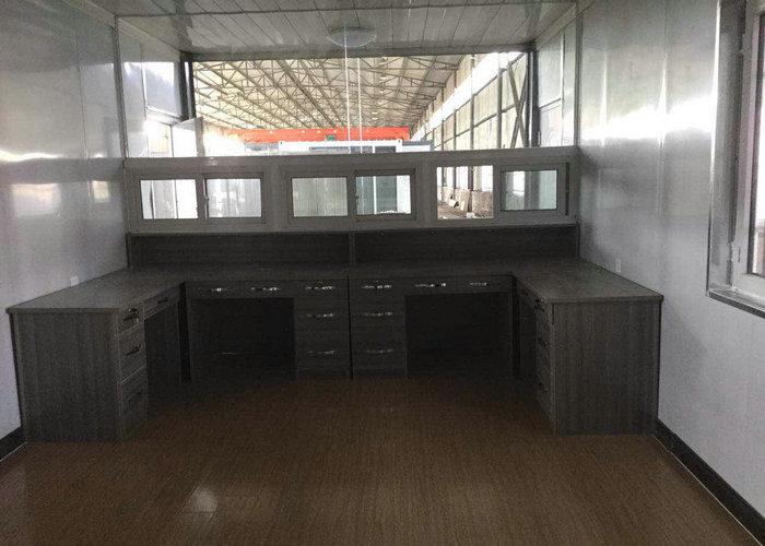 集装箱活动房厂家承建的达旗集装箱收费亭